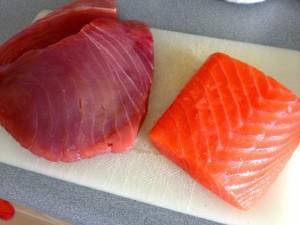 atun y salmon